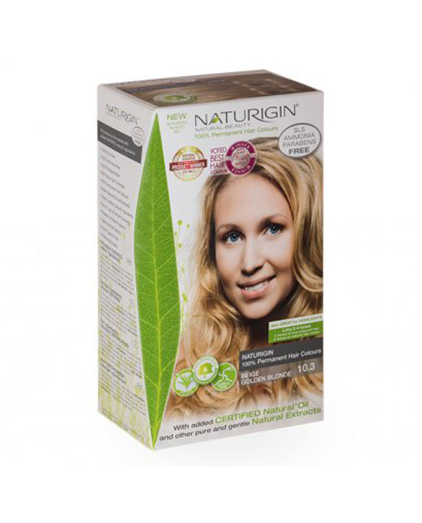 Naturigin přírodní barva na vlasy Beige Golden Blonde 10.3