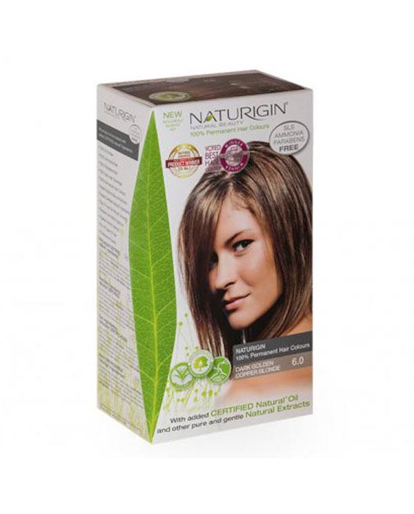 Naturigin přírodní barva na vlasy Dark Golden Copper Blonde 6.0