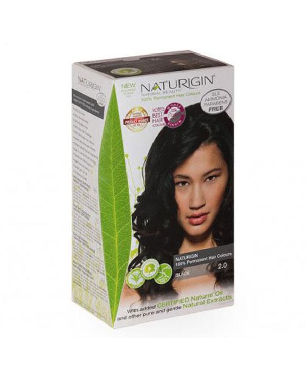 Naturigin přírodní barva na vlasy Black 2.0