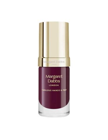 Pečující lak na nehty Margaret Dabbs Dahlia tmavě vínový