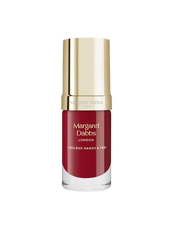 Pečující lak na nehty Margaret Dabbs Holly červený